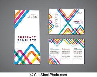 圖案, 鮮艷, 背景, 三角形, 小冊子, 三, 摺疊