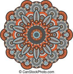 圖案, mandala., 裝飾品, 輪