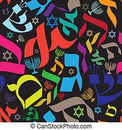 圖案, seamless, 希伯來人