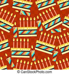 圖案, seamless, 生日聚會, cakes., 愉快