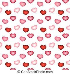圖案, seamless, 紅色, 粉紅色