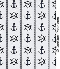 圖案, seamless, 船舶