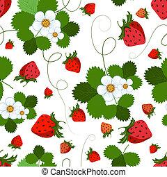 圖案, seamless, 草莓