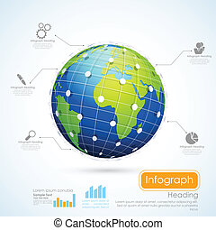 圖表, 事務, infographics