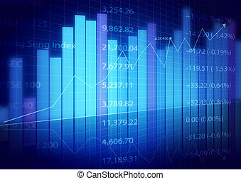 圖表, 市場, 股票