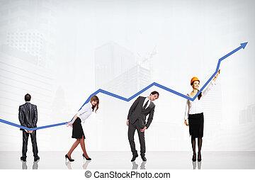 圖表, 成長, 事務, 成功