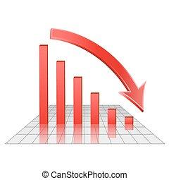 圖表, ......的, 減少, 利潤