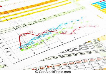 圖表, multicolor, 事務, 報告