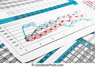 圖表, multicolor, 數字, 報告