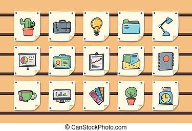 圖象, 事務, 集合, 辦公室, eps10