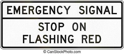 團結, 緊急事件, 信號,  -,  mutcd, 簽署, 國家, 路