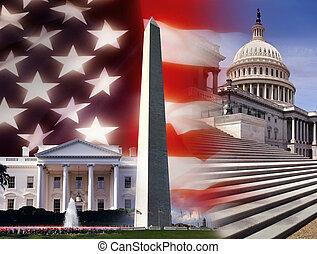 團結, 華盛頓, -, dc, 國家, 美國
