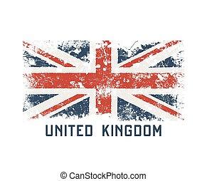 團結, kingdoml, t恤衫, 以及, 衣服, 設計, 由于, grunge, effect.