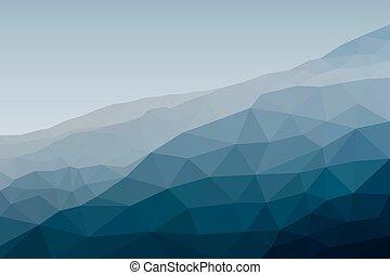 土台, イラスト, polygonal, ベクトル, style., 風景