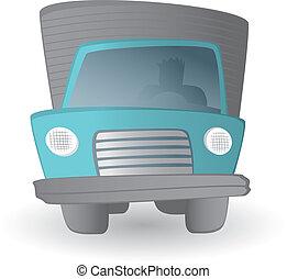土地輸送機関, 運転手, /, トラック, 車, 漫画