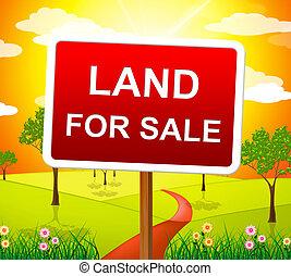 土地, 販売 のため, 表す, 不動産業者, そして, 購入