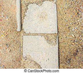 土壌, 歩道