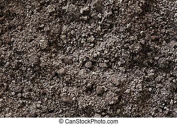 土壌, 背景, 手ざわり, 土
