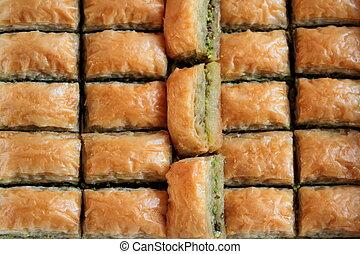 土耳其, baklava., 特寫鏡頭