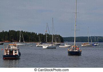 圣徒, 西方, 新, andrews, 结束, brunswick, 小游艇船坞