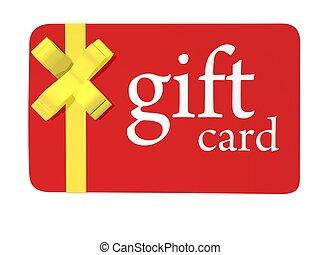 圣诞节礼物, 卡片