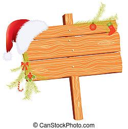 圣诞节, 背景, 为, 正文, 带, 假日, 元素, 在怀特上