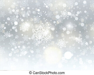圣诞节, 雪花, 背景