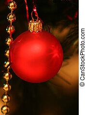 圣诞节, bauble...