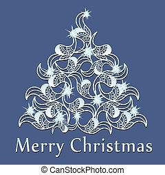 圣诞节, vect, 背景, 摘要