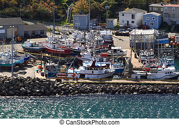 圣, 船, 船坞, newfoundland., john's, 钓鱼, 港口