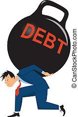 圧倒, 負債