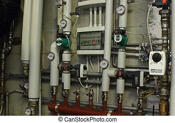 圧力計, 暖房装置
