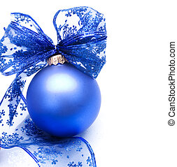 在上方, 球, 聖誕節, 白色