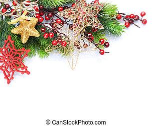 在上方, 邊框, 白色 聖誕節