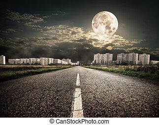 在下面, 高速公路, 地區, 月亮