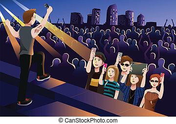 在中的人们a, 音乐会