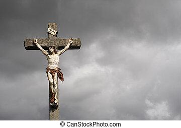 在十字架上釘死, 雕刻品, christ, 耶穌