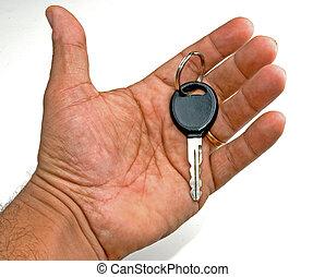 在手中的鑰匙