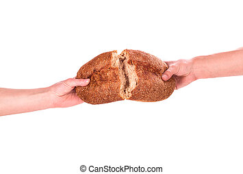 在手中的面包