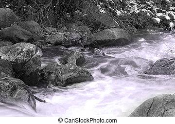在期間, 河, 春天