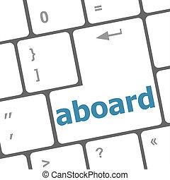 在火車上, 鑰匙, 上, the, 計算机鍵盤