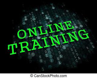 在網上, training., 事務, 教育, concept.