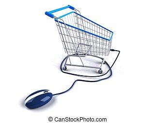 在网上購物
