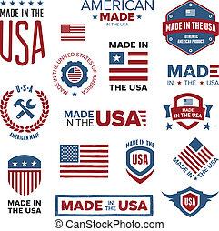 在美國被制作, 設計