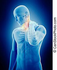 在頸里的痛苦
