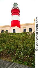 在, 南非, 海岸線, 以及, 燈塔