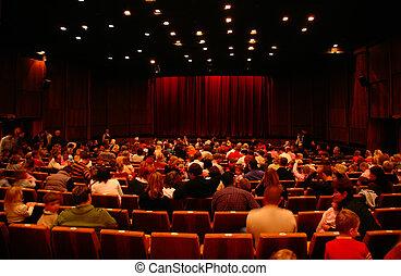 在, 電影院, 以前, seance