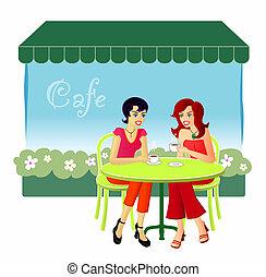 在, the, 咖啡館
