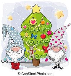 地の精, 木, クリスマス, かわいい, 2