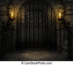 地下牢, 宮殿, 背景